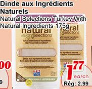 Coupons et Circulaires: ** 1,79$ Natural Selection MAPLE LEAF **