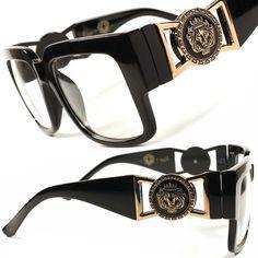 men's accessories border images for word Versace Eyewear, Versace Glasses, Versace Men, Cool Glasses, Mens Glasses, Glasses Frames, Buy Glasses, Men Sunglasses Fashion, Fashion Eyewear