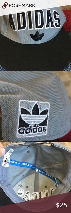 DC Shoes Swish Embroidered Logo Snapback Flat Bill Cap Hat Gray//Yellow