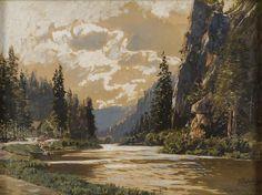 Themistokles von Eckenbrecher Moonlight, Sunrise, Ocean, Landscape, Rivers, Painting, Art & Literature, Rocks, Scenery