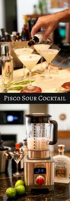 Pisco Sour Cocktail Recipe: Authentic Chilean and Peruvian Pisco Sour drink! Channel the flavor of the Andes. Pin now for later...