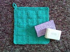 Free Knitting Pattern - Dishcloths & Washcloths : Window to my Heart Dishcloth