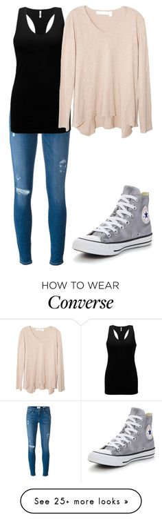 """Untitled #229"" by rubydo2 on Polyvore featuring Frame Denim, BKE, Converse and Wilt"