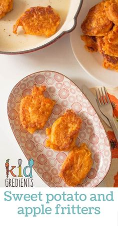 These delicious sweet potato and apple fritters are perfect for lunchboxes, as a side for dinner or even baby led weaning. Easy recipe that freezes well. Recipes snacks Sweet potato and apple fritters Sweet Potato And Apple, Sweet Potato Recipes, Baby Food Recipes, Baby Lead Weaning Recipes, Easy Recipes, Baby Apple, Chicken Recipes, Apple Recipes For Toddlers, Baby Sweet Potato Recipe
