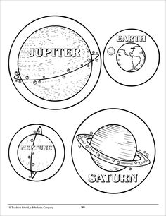 solar system cut out template - photo #7