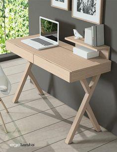 Find Furniture, Furniture Makeover, Modern Furniture, Furniture Design, Wooden Study Table, Wooden Desk, Brick Shelves, Home Desk, Woodworking Furniture