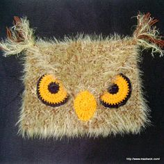 The angry owl hat - free crochet pattern