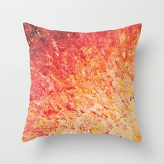 SAILOR'S SUNRISE - Beautiful Modern Abstract Crimson and Pink Nature Sky Sunset Ocean Reflection Throw Pillow by EbiEmporium - $20.00