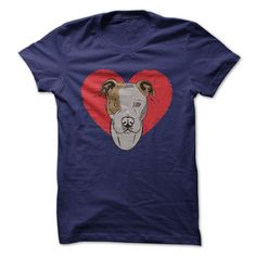 Your dog fills your whole heart like the smiling Pit bull fills up the heart on this tee. You know some people are afraid of Pit bulls but that's because they don't know how loving, devoted and smart
