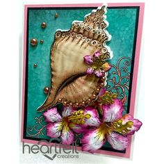 Gallery | Seashell And Pink Hibiscus - Heartfelt Creations