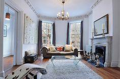 Brooklyn brownstone Victorian interior