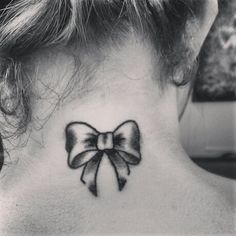 Bow tattoo #bow #tattoo #black and white                                                                                                                                                                                 More
