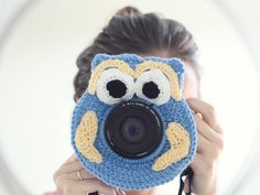Crochet buddy. Crochet owl. Camera buddy. Lens critter. Photographer helper. Crochet accessory. Photo Prop. Camera Lens Accessory.