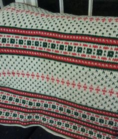 Christmas Afghan by afghansandmore1 on Etsy