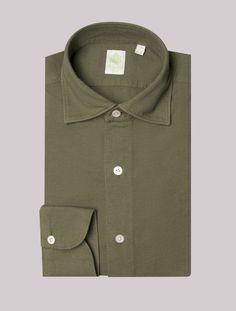 Green Cotton Crepe Gaeta Luigi Shirt – Gabucci Crows Feet, Crepe Fabric, Mother Of Pearl Buttons, Green Cotton, Luigi, Casual Shirts, Shirt Dress, Model, Mens Tops