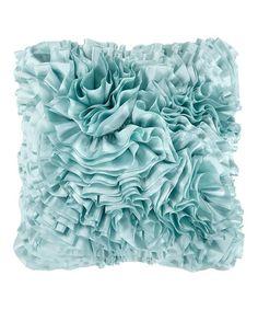 Loving this Blue Haze Ruffle Throw Pillow on #zulily! #zulilyfinds