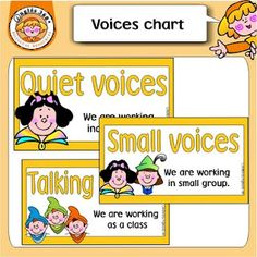 Voice Chart. Chart that allows you to put up which voice the children should be using during instructional time.