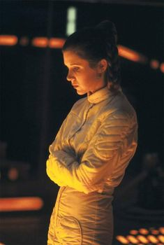 Untitled - Star Wars Princesses - Ideas of Star Wars Princesses - Carrie Fisher on the set of Empire Strikes Back Star Wars Film, Star Wars Cast, Leia Star Wars, Star Trek, Carrie Fisher, Saga, Princesa Leia, Han And Leia, Star Wars Pictures