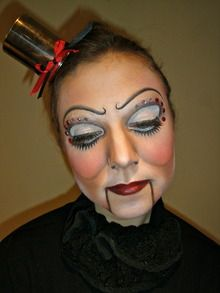 ventriloquist's puppet costume makeup