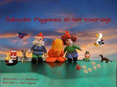 """Kabouter Piggelmee en het Tovervisje  Deze handgemaakte kabouters zijn Meneer en Mevrouw Piggelmee en het visje is een Tovervisje. Zij spelen de hoofdrol in het bekende kinderverhaaltje: """" Kabouter Piggelmee en het Tovervisje"""" van L.C. Steenhuizen."""