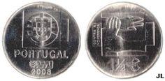 Moedas de Euro emitidas por Portugal: Uma moeda contra a indiferença (AMI) - Valor 1.50€...