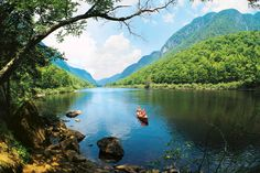 Looking to get out of the city for an excursion? Just 30 minutes north of Quebec you will find the tranquility of the Jacques Cartier National Park. Canoe, kayak, or rafting is available or maybe just a stroll through the woods along the river.