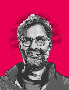 Portrait illustrations of the big six coach of Premier League Potrait Painting, Big Six, Portrait Illustration, Liverpool Fc, Never Give Up, Premier League, Football, Graphic Art, Behance