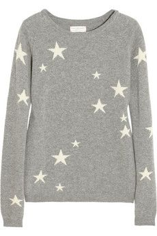 Star intarsia cashmere sweater by: Chinti and Parker