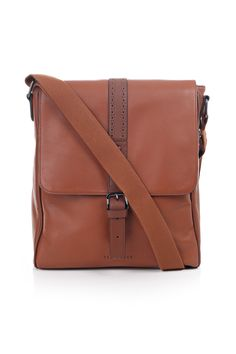 ea567dc70a3d3 ted baker - longwin broguing leather flight bag - tan http   www.