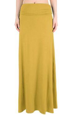 LQ Women's High Waisted Fold Over Maxi Skirt (Mustard, Small) LeggingsQueen http://www.amazon.com/dp/B00EFSMXR6/ref=cm_sw_r_pi_dp_qRzTtb0DKR5JDDDB