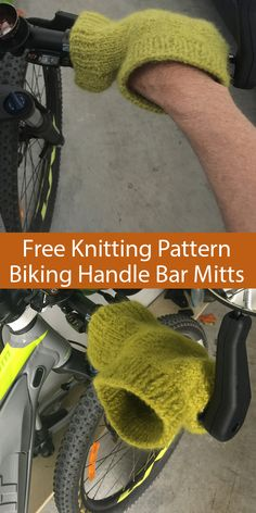 Free Knitting Pattern for Bike Handle Bar Mitts - Slip these mitts on a bike to . - Free Knitting Pattern for Bike Handle Bar Mitts – Slip these mitts on a bike to keep your fingers -
