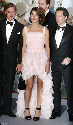 Fashion fantasy: Monegasque royal Charlotte Casiraghi, flanked by brother Pierre (left) an...