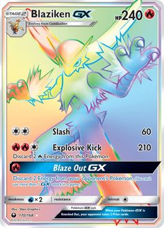 Blaziken GX (Secret) - SM - Celestial Storm, Pokemon - Online Gaming Store for Cards, Miniatures, Singles, Packs & Booster Boxes Pokemon Cards Legendary, All Pokemon Cards, Pokemon Names, Pokemon Trading Card, Pokemon Online, Cool Pokemon Wallpapers, Wizards Of The Coast, Charizard, Digimon