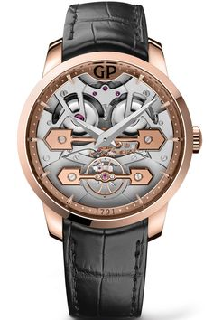 22599b1c430 See the Girard-Perregaux Classic Bridges 45 mm watch - Movement    Self-winding mechanical - Case   Rose gold
