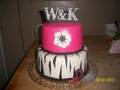 - Buttercream with gumpaste topper and fondant accents