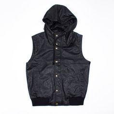 Bomber Vest Black now featured on Fab.