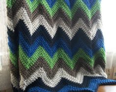 Child's Chevron Crocheted Afghan