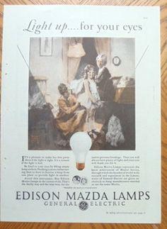 1928 Edison Mazda Lamps $9.77