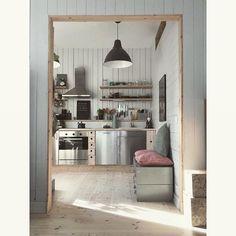Kitchen open shelfs 😊 #boligplussminstil #rom123 #boligpluss #skonahem #industrialliving #hem_inspiration… Industrial Living, Kitchen Island, Shelves, Inspiration, Home Decor, Island Kitchen, Biblical Inspiration, Shelving, Decoration Home