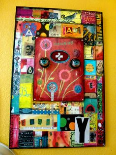 Teesha Moore - collage - found object
