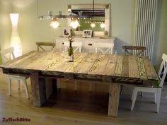 esstisch aus paletten auf dem land pinterest esstische palettenm bel und tisch aus paletten. Black Bedroom Furniture Sets. Home Design Ideas