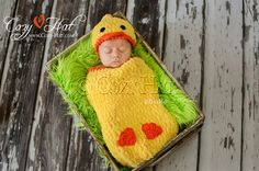 Ducky Cocoon and Hat Baby Set by CozyHat on Etsy