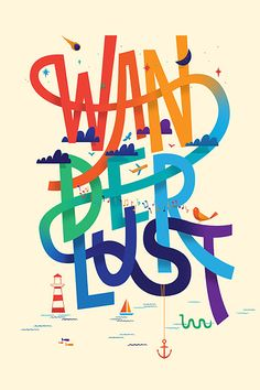 #Typographic #Illustrations by Chris Wharton | Inspiration Grid | #Design #Inspiration