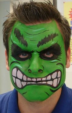 the hulk face painting