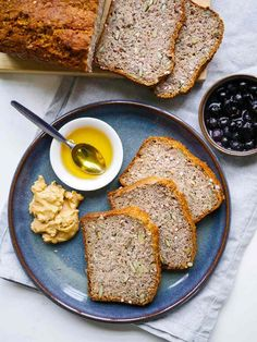 A healthy, and very easy recipe for a vegan buckwheat bread made gluten free using chia seeds, buckwheat flour and almond meal. Vegan Recipes Easy Healthy, Vegan Recipes Videos, Vegan Lunch Recipes, Healthy Cat Treats, Healthy Meals For Two, Almond Recipes, Dinner Healthy, Gluten Free Dinner, Vegan Gluten Free