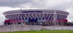 The Philippine Arena is considered as the world's biggest indoor arena. Indoor Arena, National Stadium, Construction Cost, Churches Of Christ, Landscape Architecture, Outdoor Activities, Philippines, World, Travel