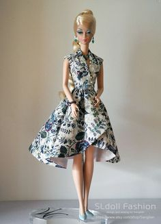OOAK vintage dress for Silkstone Barbie Vintage Barbie Fashion Royalty by SL by Sanglian on Etsy