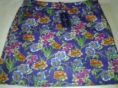 NWT-Womens-Ralph-Lauren-Purple-Floral-Multi-Colored-Golf-Skort-Shorts-Skirt-6-8