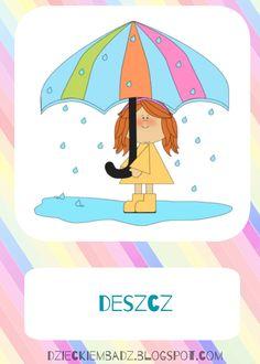 Dzieckiem bądź: Kalendarz pogody do pobrania Bujo, Pikachu, Playing Cards, Snoopy, Education, Fictional Characters, Playing Card Games, Onderwijs, Fantasy Characters