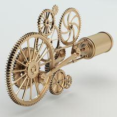 3d model steam punk mechanism